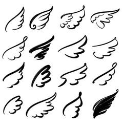 wings icon sketch collection cartoon hand drawn vector image vector image