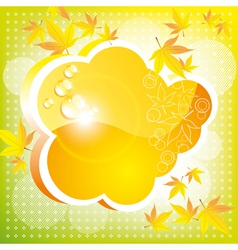 A bright card vector image vector image