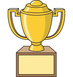 Cartoon Trophy vector image vector image