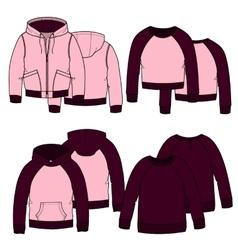 Girls hoodiesColor vector image vector image