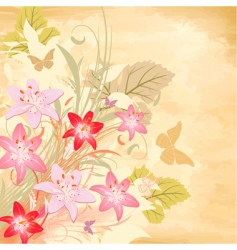 lily old background vector image vector image