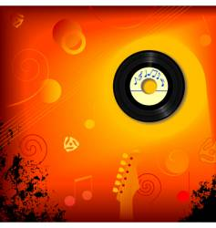retro 45 rpm music background vector image