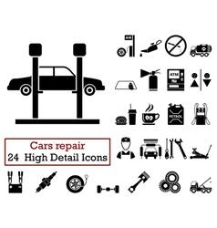 Set of 24 Car repair Icons vector image vector image