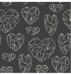 stone heart seamless pattern vector image vector image