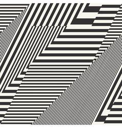 striped textured chevron optical vector image vector image