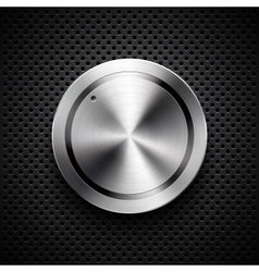 Technology volume button with metal texture vector image