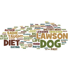 The dog diet text background word cloud concept vector