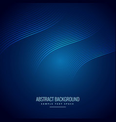 Abstract blue background with wave lines vector