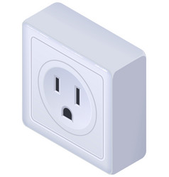 American outlet 3d isometric icon isolated on vector