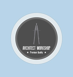 Architect Label vector