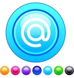 At circle button vector image