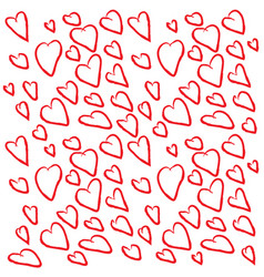 background of hearts for valentines day vector image