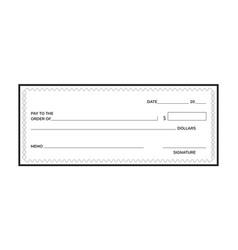 Bank check vector