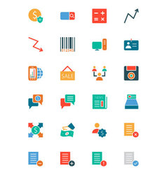 Banking and Finance Colored Icons 9 vector
