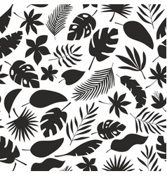 Black and white seamless pattern with jungle vector