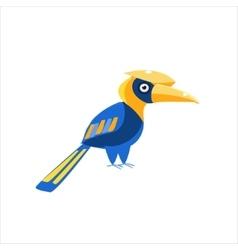 Blue Hornbill Bird vector