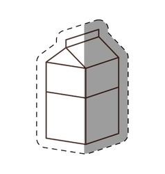 Box carton milk juice cut line vector