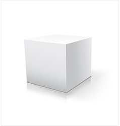 Box white icon Template for your design vector image vector image