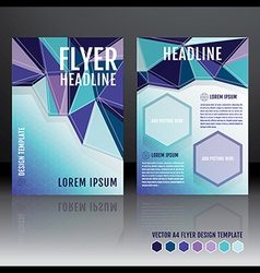 Brochure flyer template design with geometric vector