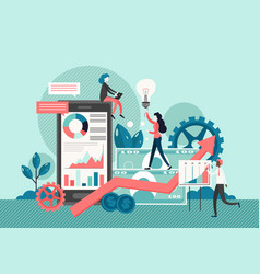 Business concept flat style design vector