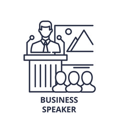 business speaker line icon concept business vector image
