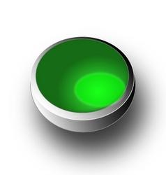 Button 3D vector image