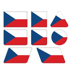 buttons with flag of Czech Republic vector image
