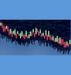 candlestick chart for market presentation report vector image