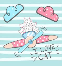 cartoon cat kitty characters vector image