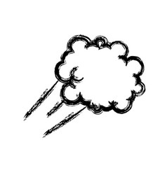 Cartoon cloud graffiti artistic design vector