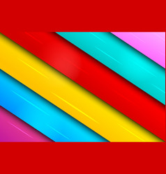 Colorful bright slanted banners composition vector