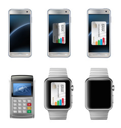 Concept of mobile payments vector
