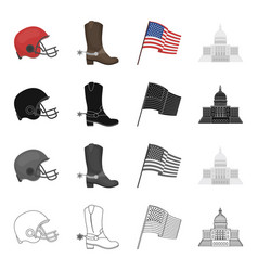 country america tourism and other web icon in vector image