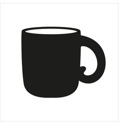 cup icon in simple monochrome style icon vector image