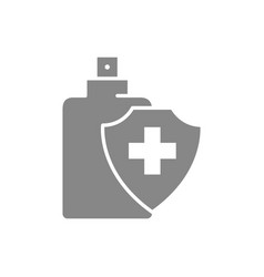 Disinfectant spray grey icon cleaning supply vector