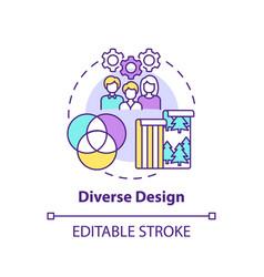 Diverse design concept icon vector