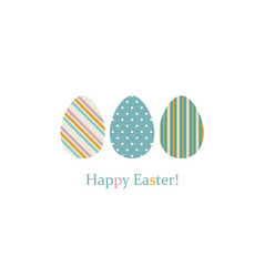 easter eggs on white vector image