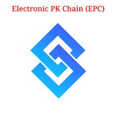 Electronic pk chain epc logo vector