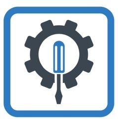 Engineering Flat Icon vector image vector image