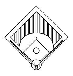 field baseball related icon image vector image