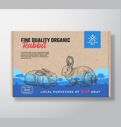 fine quality organic rabbit meat packaging vector image