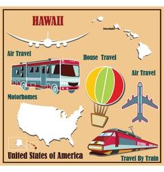 Flat map of Hawaii vector