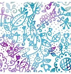 Floral seamless pattern watercolor design vector