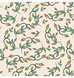 flower bud leaves seamless vector image