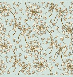 Fluffy dandelion blue pastel seamless vector