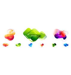 Fluid banners - set abstract modern graphic vector