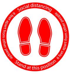 Foot symbol marking standing position vector