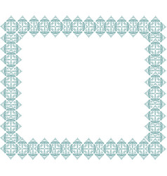 frame in doodle style retro border vector image