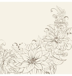 Garland of chrysanthemum isolated vector