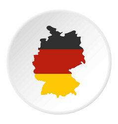 Germany map with national flag icon circle vector